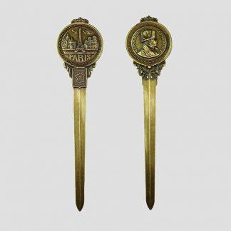 Coupe-papier métal Napoléon et Paris