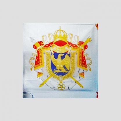 Drapeau 90x90 cm avec fourreau motif armoiries Premier Empire