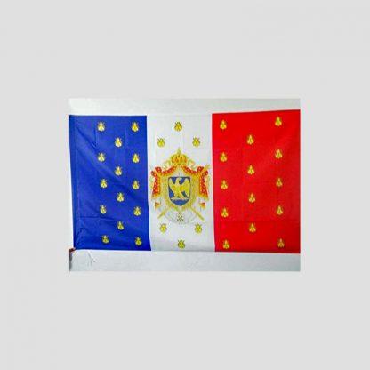 Drapeau français de décoration avec les armoiries de Napoléon III