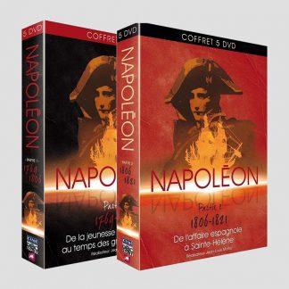 Deux coffrets de 5 DVD sur Napoléon (1769-1821)