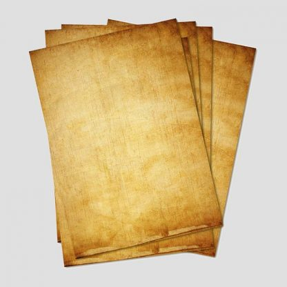 Feuille papier aspect vieux papier ou parchemin - Format A4 - Marque : Partycards