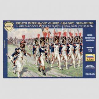 Figurines Zvezda 8030 - Grenadiers de la Garde Impériale, 1804-1815