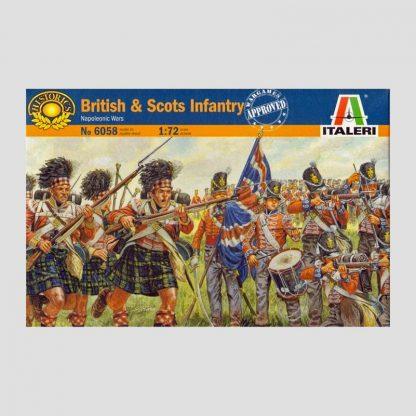 Infanterie britannique et écossaise, guerres napoléoniennes, 1805-1815 - Italeri 6058