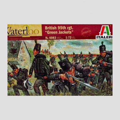 "95ème régiment britannique ""Green Jackets"", Waterloo, 1815 - Italeri 6083"