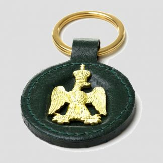 Porte-clés Napoléon en cuir vert de la marque Laurige