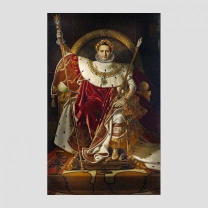 """Poster taille 40 x 60 cm reproduction du tableau """"Napoléon Ier sur le trône impérial"""" de Jean-Auguste-Dominique Ingres"""