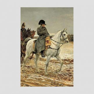"""Affiche petit format reproduction du tableau de Meissonier """"1814, la Campagne de France"""""""
