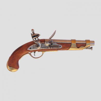 Réplique en bois et en métal d'un pistolet de la cavalerie française, 1806