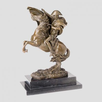 Statuette en bronze Bonaparte à cheval d'après une oeuvre du peintre Jacques-Louis David