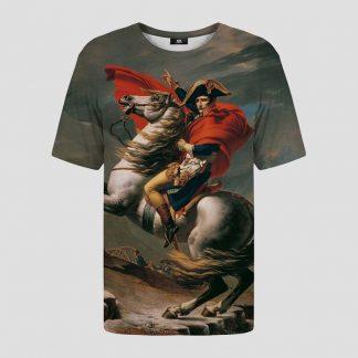 T-shirt avec motif général Bonaparte franchissant le Grand-Saint-Bernard