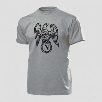 T-shirt gris avec motif Aigle Impériale Premier Empire