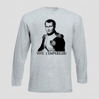 T-shirt avec portrait de Napoléon 1er avec inscription Vive l'Empereur