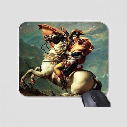 Tapis de souris motif général Bonaparte franchissant le col du Grand-Saint-Bernard