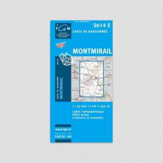 Carte dépliante IGN : Montmirail - Série Bleue 2614 SB - 1:25000