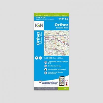 Carte dépliante IGN : Orthez - Salies-de-Béarn - Série Bleue 1444 SB - 1:25000