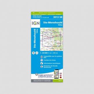 Carte dépliante IGN : Sainte-Menehould - Valmy - Série Bleue 3013 SB - 1:25000