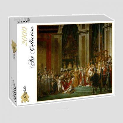 """Puzzle """"Sacre de l'empereur Napoléon Ier et couronnement de l'impératrice Joséphine dans la cathédrale Notre-Dame de Paris, le 2 décembre 1804"""" d'après Jacques-Louis David"""