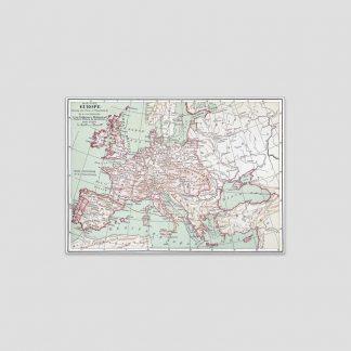 Poster carte de l'Europe napoléonienne en 1812
