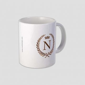 """Tasse à café personnalisé avec la lettre """"N"""" et couronne impériale"""