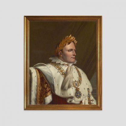 """Tableau avec cadre, reproduction d'une oeuvre d'Anne-Louis Girodet """"Portrait de Napoléon Ier en souverain législateur"""""""