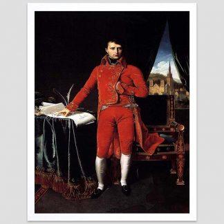 Bonaparte en habit de Premier Consul - Oeuvre du peintre Ingres - 1804