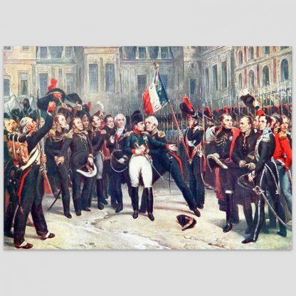 Adieux de Napoléon Ier à la garde impériale dans la cour du cheval blanc du château de Fontainebleau, 20 avril 1814