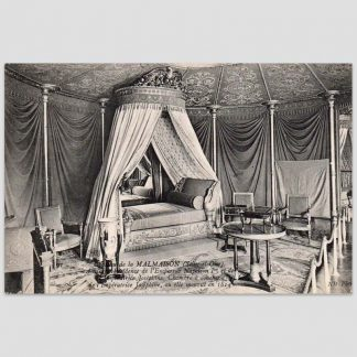 Château de la Malmaison (Seine-et-Oise) - Ancienne résidence de l'Empereur Napoléon 1er et de l'Impératrice Joséphine, chambre à coucher de l'Impératrice Joséphine, où elle mourut en 1814