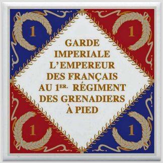 Drapeau 1er régiment des grenadiers à pied de la Garde Impériale