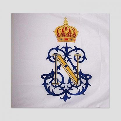 Drapeau monogramme Napoléon III - Second Empire