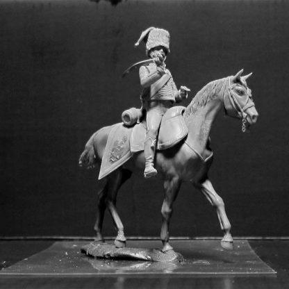 Figurine 1:32e hussard français pendant les guerres napoléoniennes
