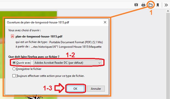 Ouvrir le fichier PDF avec le logiciel Adobe Acrobat Reader DC