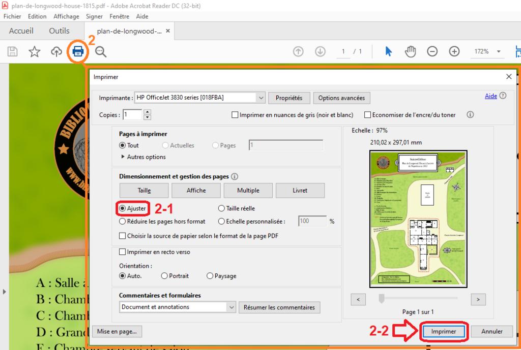 Imprimez vos fichiers PDF avec le logiciel Adobe Acrobat Reader DC